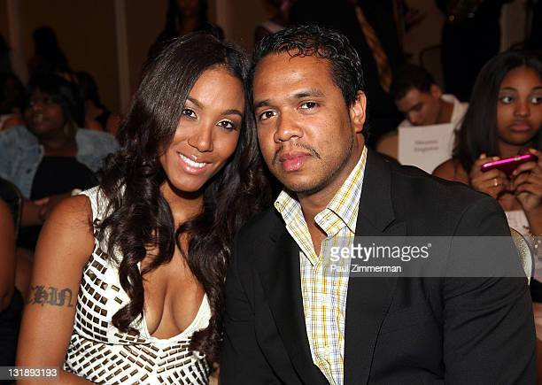 Lexi Chow and Johnny Nunez attend the 2nd annual Blackout Awards at the Newark Hilton Gateway Hotel on June 12 2011 in Newark New Jersey