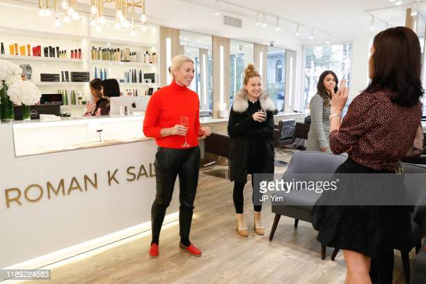 Lexi Cross and Blair Breitenstein attend the Roman K Salon Madison Avenue Opening on November 21 2019 in New York City