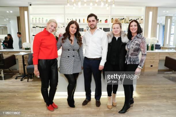 Lexi Cross Rachel Shimanova Roman Kusayev Blair Breitenstein and Leah Tehrani attend the Roman K Salon Madison Avenue Opening on November 21 2019 in...