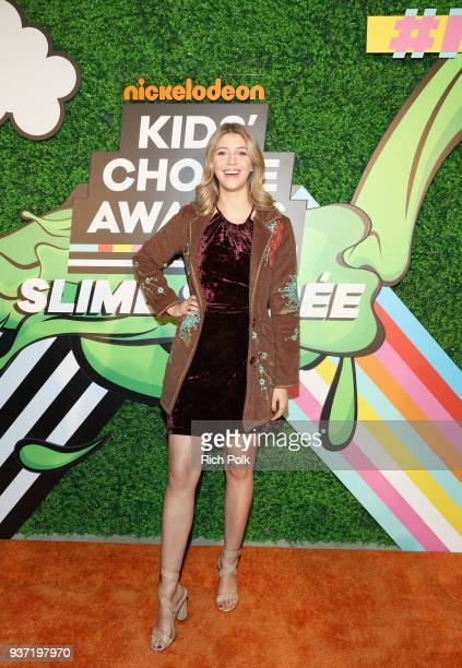 Lexi DiBenedetto attends the Nickelodeon Kids' Choice Awards Slime Soirée on March 23 2018 in Venice CA