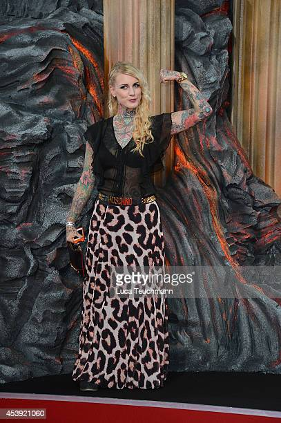 Lexi Hell attends the European premiere of the film 'Hercules' at CineStar on August 21 2014 in Berlin Germany