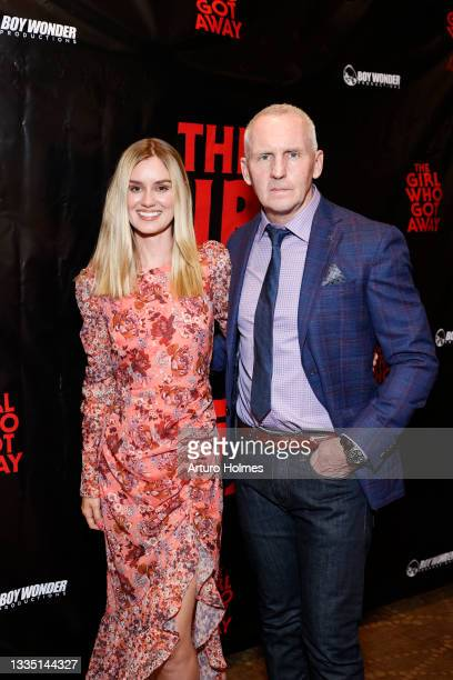 Lexi Johnson and Michael Morrissey attend The Girl Who Got Away Film Premiere at AMC Theater on August 19, 2021 in New York City.