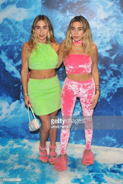 Lexi Kaplan and Allie Kaplan arrive at UGG '40 Years' Anniversary Celebration at Chateau Marmont on October 4 2018 in Los Angeles California