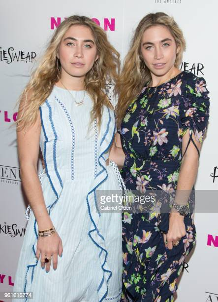 Lexi Kaplan and Allie Kaplan arrive for NYLON Hosts Annual Young Hollywood Party at Avenue on May 22 2018 in Los Angeles California