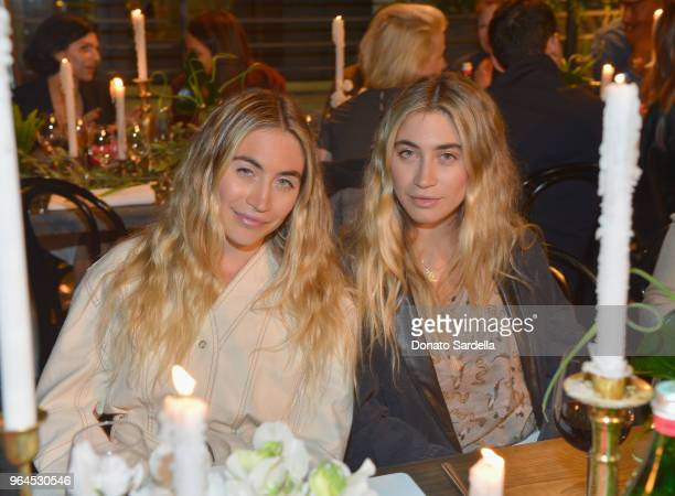 Lexi Kaplan and Allie Kaplan attend Nanushka Dinner Hosted by Sandra Sandor and Peter Baldaszti on May 30 2018 in Culver City California