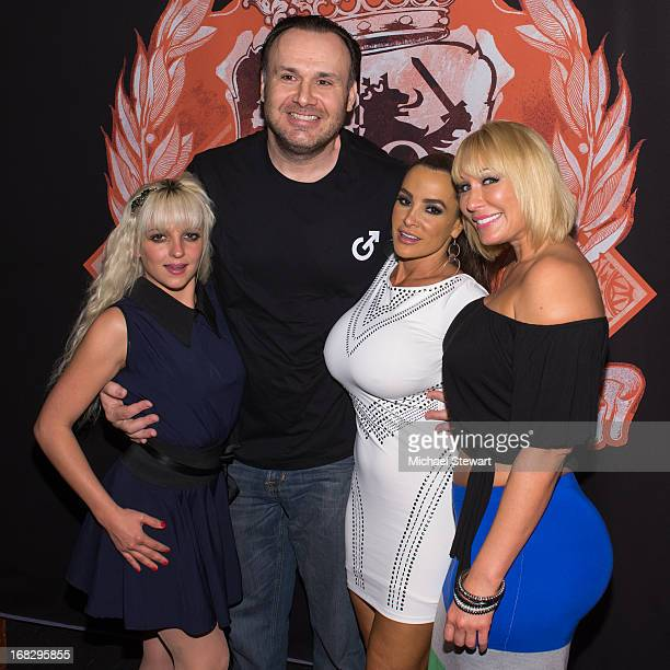 Lexi Love Big John Lisa Ann and Mellanie Monroe attend Lisa Ann's Birthday Celebration at Headquarters on May 7 2013 in New York City