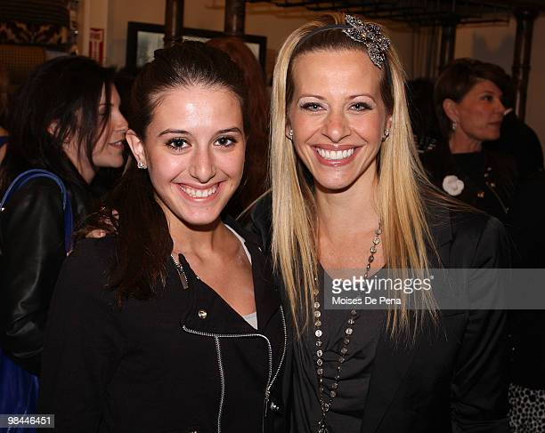 Lexi Manzo and Dina Manzo attend Jill Zarin's Secrets Of A Jewish Mother Book Launch Party at Zarin Fabrics on April 13 2010 in New York City