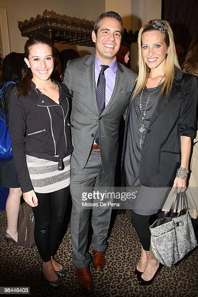 Lexi Manzo Andy Cohen and Dina Manzo attend Jill Zarin's Secrets Of A Jewish Mother Book Launch Party at Zarin Fabrics on April 13 2010 in New York...