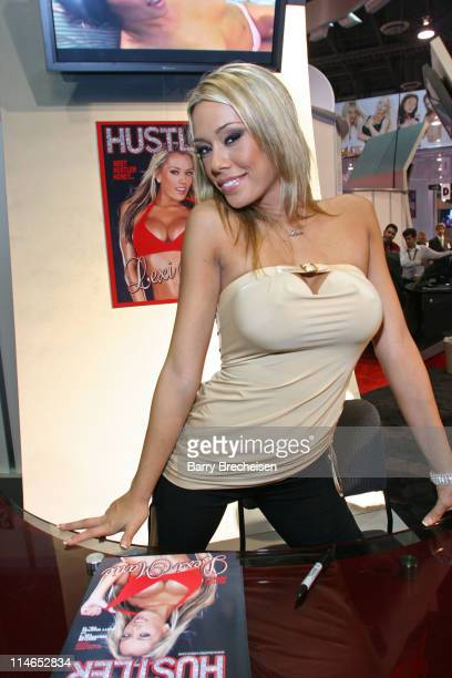 Lexi Marie at the Hustler Video booth during 2005 AVN Adult Entertainment Expo at Sand Expo Center in Las Vegas Nevada United States