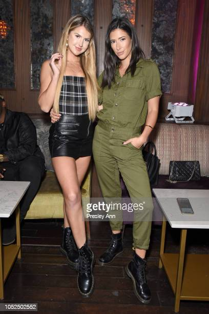 Lexi Mars and Kylee Campbell attend Bella Hadid x True Religion Event Campaign Party at Poppy on October 18 2018 in Los Angeles California