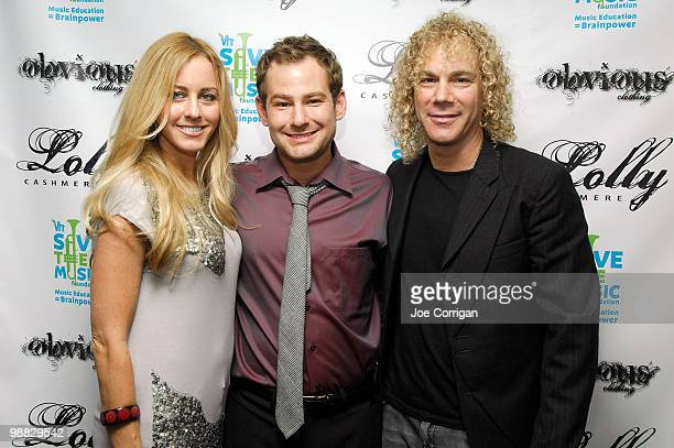 Lexi Quaas actor/fashion designer musician Chad Kimball and musician/Bon Jovi band member David Bryan attend the Burgers Beer Cashmere Collection...
