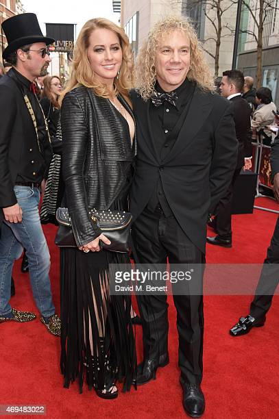 Lexi Quaas and David Bryan attend The Olivier Awards at The Royal Opera House on April 12 2015 in London England