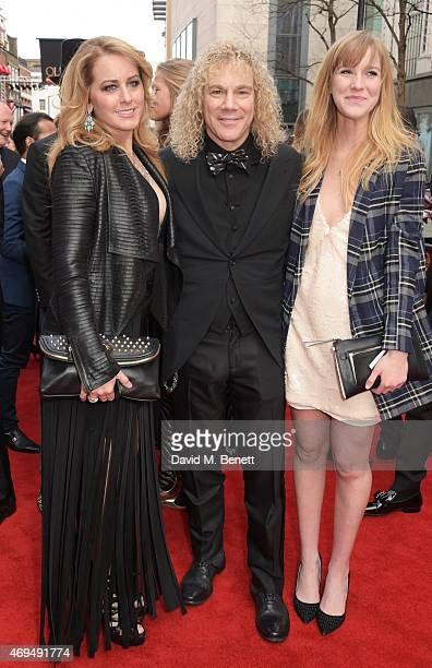 Lexi Quaas David Bryan and Gabrielle Bryan attend The Olivier Awards at The Royal Opera House on April 12 2015 in London England