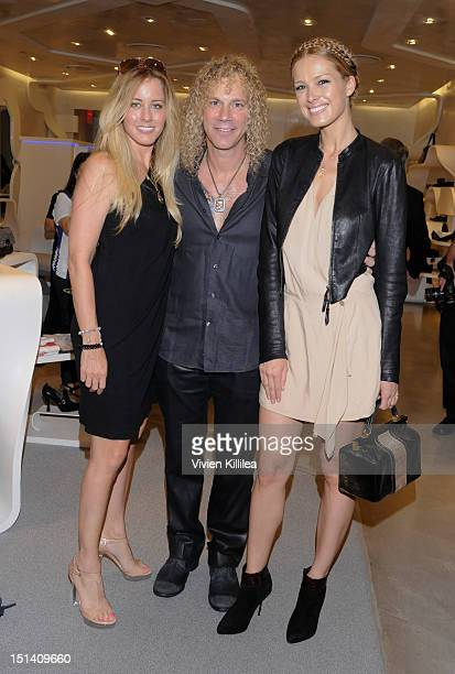 Lexi Quaas recording artist David Bryan and model Petra Nemcova attend Stuart Weitzman Hosts Fashion's Night Out with Special Guest Appearance by...
