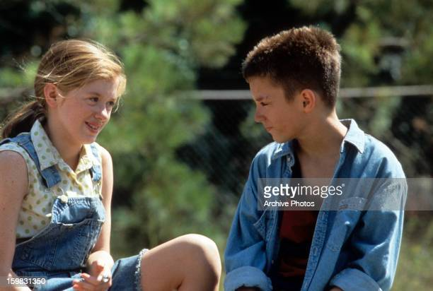 Lexi Randall and Elijah Wood in a scene from the film 'The War' 1994