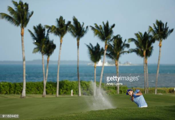 Lexi Thompson hits her second shot on the 14th hole during the final round of the Pure Silk Bahamas LPGA Classic at the Ocean Golf Course on January...