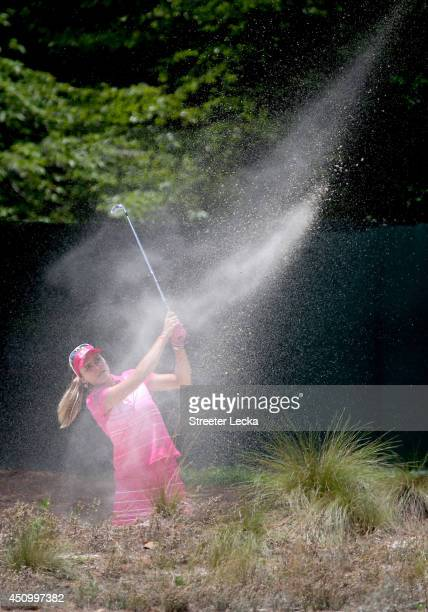 Lexi Thompson of the United States hits a shot on the third hole during the third round of the 69th US Women's Open at Pinehurst Resort Country Club...