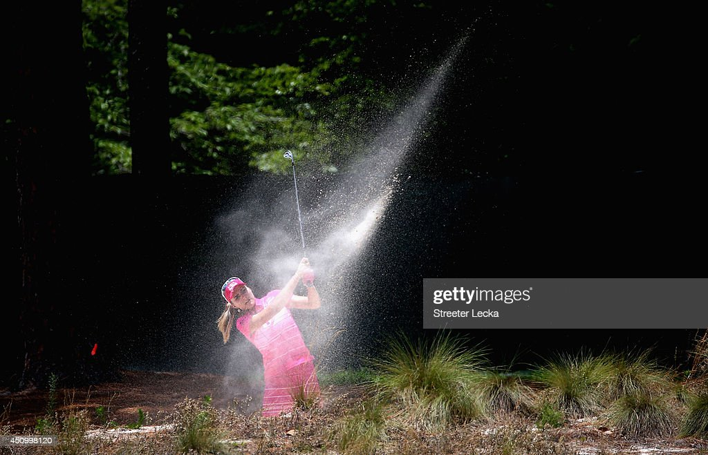 Lexi Thompson of the United States hits a shot on the third hole during the third round of the 69th U.S. Women's Open at Pinehurst Resort & Country Club, Course No. 2 on June 21, 2014 in Pinehurst, North Carolina.