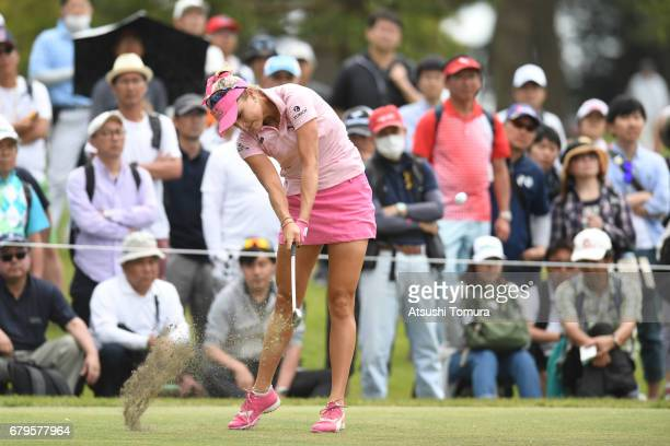 Lexi Thompson of the USA hits her tee shot on the 6th hole during the third round of the World Ladies Championship Salonpas Cup at the Ibaraki Golf...