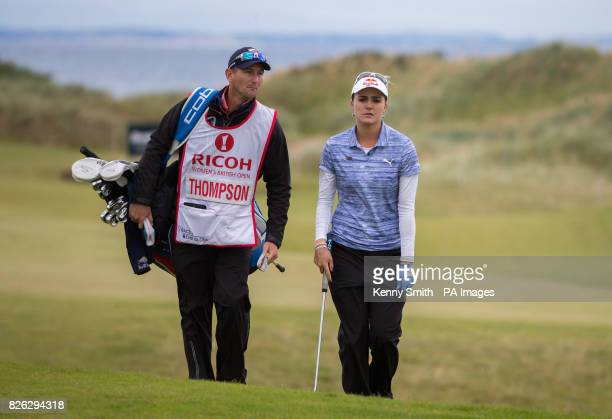 Lexi Thompson of the USA makes her way tothe 5th hole during day two of the 2017 Ricoh Women's British Open at Kingsbarns Golf Links St Andrews