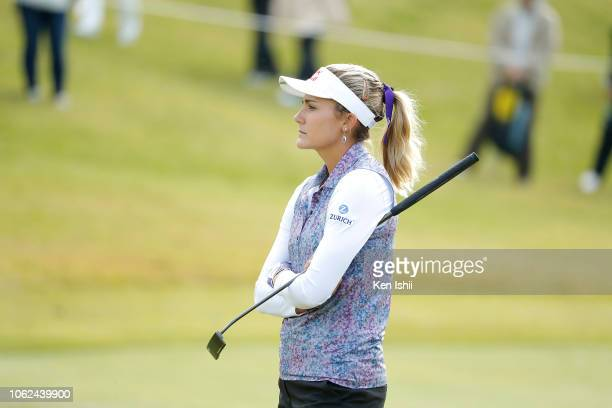 Lexi Thompson of United States looks on during the first round of the TOTO Japan Classic at Seta Golf Course on November 02 2018 in Otsu Shiga Japan
