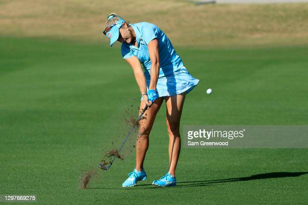 Lexi Thompson plays a shot on the fourth hole during the first round of the Diamond Resorts Tournament Of Champions at Tranquilo Golf Course at the...