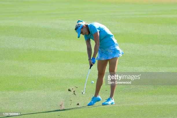 Lexi Thompson plays a shot on the seventh hole during the first round of the Diamond Resorts Tournament Of Champions at Tranquilo Golf Course at the...