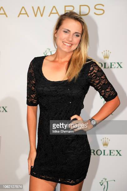 Lexi Thompson poses for a photo on the green carpet during the LPGA Rolex Players Awards at the RitzCarlton Golf Resort on November 15 2018 in Naples...