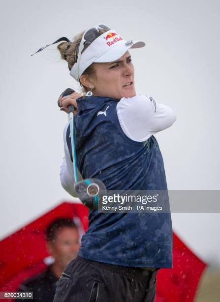 Lexi Thompson tees off at the 16th hole during day one of the 2017 Ricoh Women's British Open at Kingsbarns Golf Links St Andrews