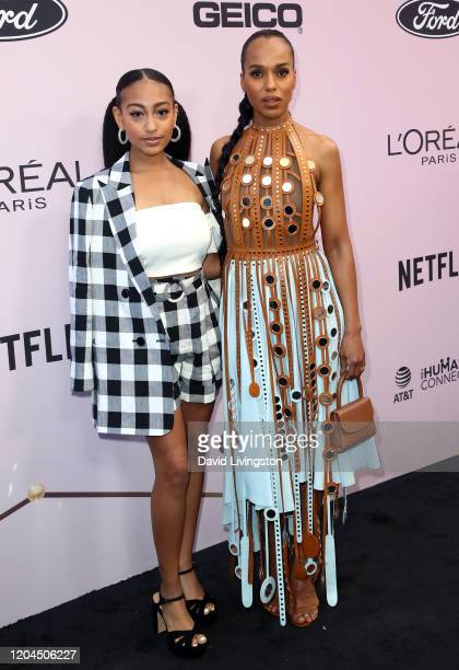 Lexi Underwood and Kerry Washington attend the 13th Annual Essence Black Women In Hollywood Awards Luncheon at the Beverly Wilshire Four Seasons...