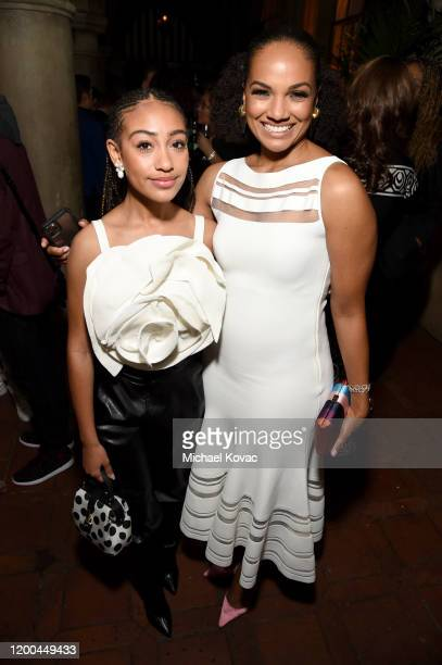 Lexi Underwood and Mekia Cox are seen as Entertainment Weekly Celebrates Screen Actors Guild Award Nominees at Chateau Marmont on January 18 2020 in...