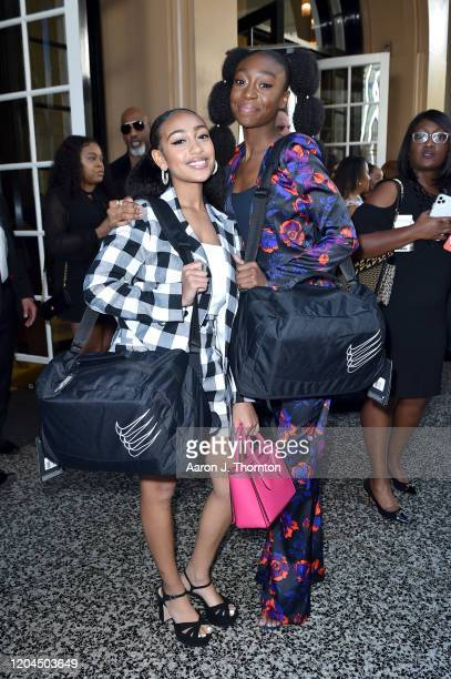 Lexi Underwood and Shahadi Wright Joseph attend the 2020 13th Annual ESSENCE Black Women in Hollywood Luncheon at Beverly Wilshire, A Four Seasons...
