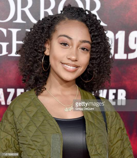 Lexi Underwood arrives at the Opening Night Of Universal Studios' Halloween Horror Nights at Universal Studios Hollywood on September 12 2019 in...