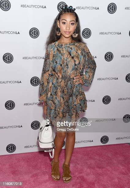 Lexi Underwood attends Beautycon Los Angeles 2019 Pink Carpet at Los Angeles Convention Center on August 10 2019 in Los Angeles California