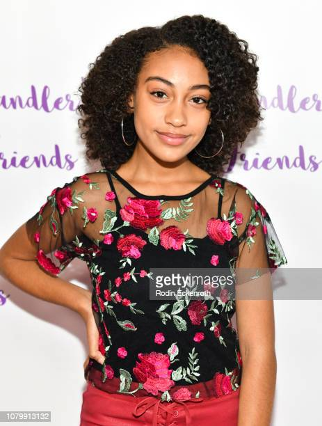 Lexi Underwood attends Chandler Kinney's 3rd Annual Holiday Toy Drive Event on December 09 2018 in Los Angeles California