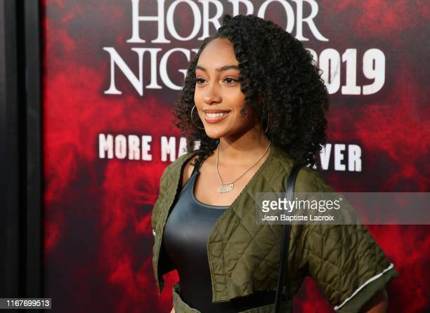 Lexi Underwood attends the opening night of Universal Studios' Halloween Horror Nights held at Universal Studios Hollywood on September 12 2019 in...