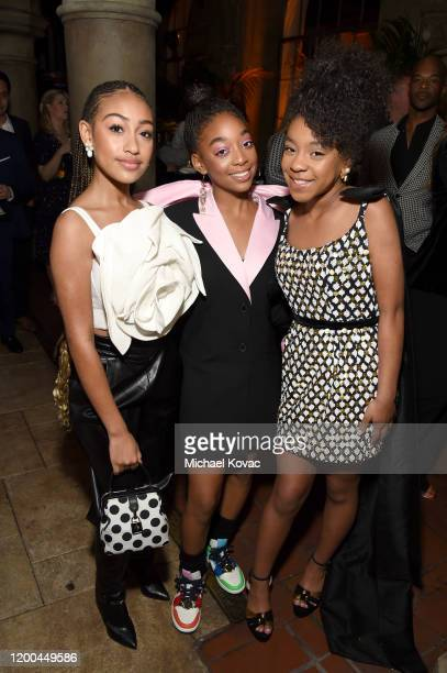 Lexi Underwood Eris Baker and Priah Ferguson are seen as Entertainment Weekly Celebrates Screen Actors Guild Award Nominees at Chateau Marmont on...