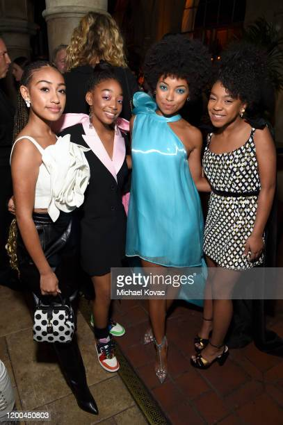 Lexi Underwood Eris Baker Logan Browning and Priah Ferguson are seen as Entertainment Weekly Celebrates Screen Actors Guild Award Nominees at Chateau...