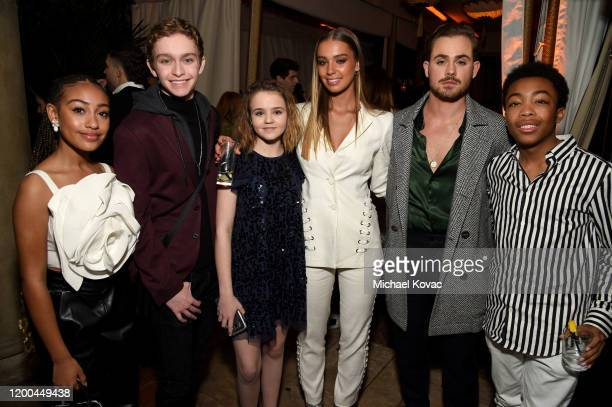 Lexi Underwood Gavin Lewis Megan Stott Liv Pollock Dacre Montgomery and Asante Blackk are seen as Entertainment Weekly Celebrates Screen Actors Guild...