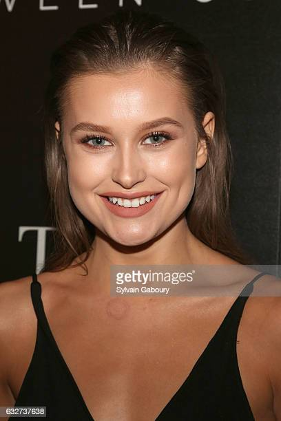 """Lexi Wood attends STX Entertainment with The Cinema Society Host a Screening of """"The Space Between Us"""" on January 25, 2017 in New York City."""