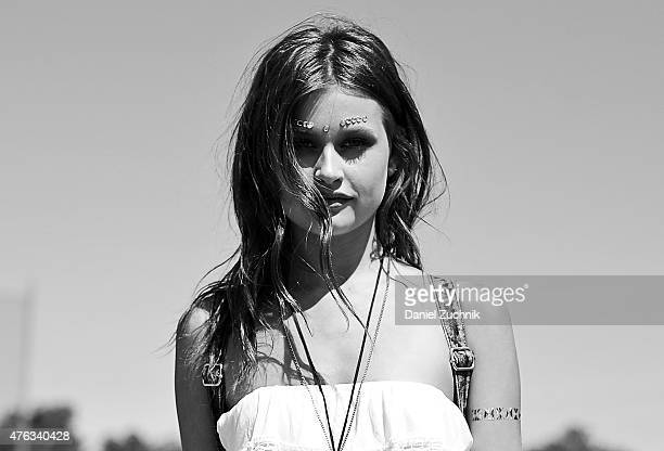 Lexi Wood is seen wearing an Ardene outfit during the 2015 Governors Ball Music Festival at Randall's Island on June 7 2015 in New York City