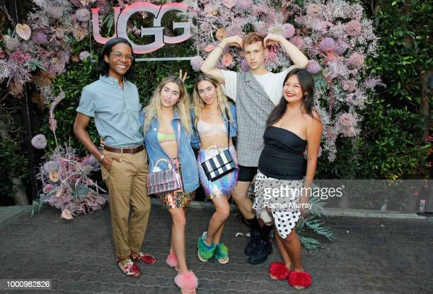 Lexie Kaplan Allie Kaplan and Tommy Dorfman attend the A/W'18 UGG Collective Global Campaign Launch hosted by Sasha Lane at Rose Cafe on July 17 2018...