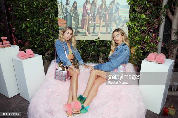 Lexie Kaplan and Allie Kaplan attend the A/W'18 UGG Collective Global Campaign Launch hosted by Sasha Lane at Rose Cafe on July 17 2018 in Venice...