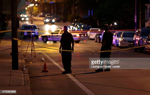 Lexington Police Dept investigate a fatal shooting on East Maxwell St at Transylvania Park Friday April 17 2015 in Lexington Ky UK student Jonathan W...