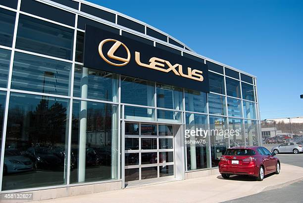 lexus ct 200h hybrid parked at dealership - canadian tire centre stock pictures, royalty-free photos & images