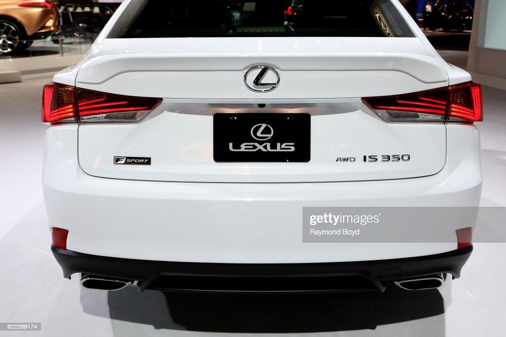 Lexus FSport IS 350 is on display at the 110th Annual Chicago Auto Show at McCormick Place in Chicago, Illinois on February 9, 2018.