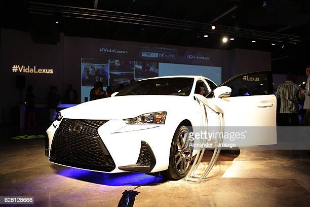 Lexus IS 200T F Sport on display at Lexus Presents Obras de Arte at MANA Garage on December 6 2016 in Miami Florida