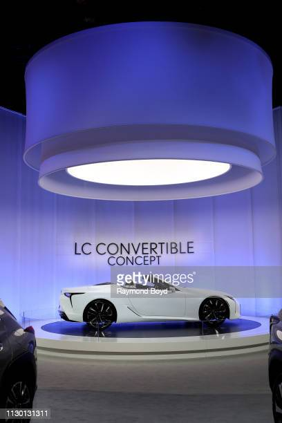 Lexus LC Convertible Concept is on display at the 111th Annual Chicago Auto Show at McCormick Place in Chicago, Illinois on February 7, 2019.