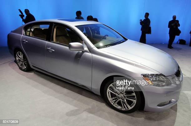 Lexus premieres the 2006 Lexus GS450h Hybrid at the 2005 New York International Auto Show March 23 2005 in New York City The show features nearly...