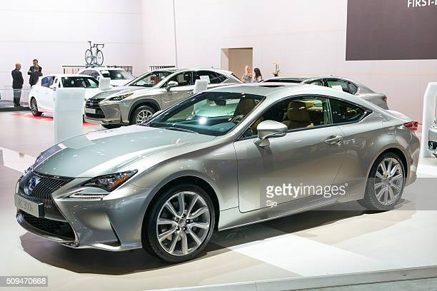 lexus rc 300h luxury hybrid coupe - rc car stock photos and pictures